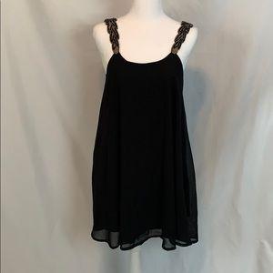 Oh My Love London : black beaded tent style dress